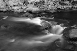 Between upper and lower Swallow Falls, infrared (Swallow Falls SP)